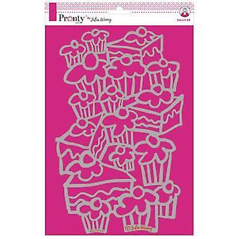 Pronty Crafts Kuchen A4 Schablone