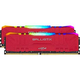 Crucial Ballistix BL2K16G30C15U4RL RGB, 3000 MHz, DDR4, DRAM, Fixed Computer Gaming Kit, 32 GB (16 GB x2), CL15, Red