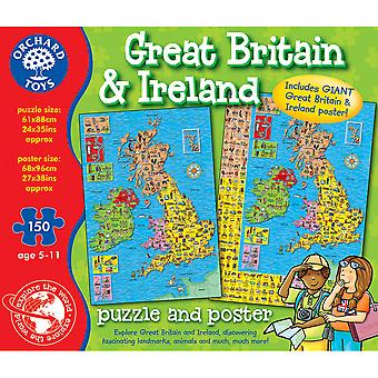 Great Britain and Ireland Map Puzzle