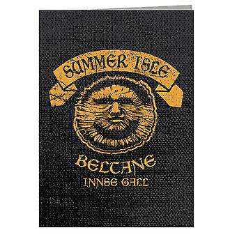 The Wicker Man Summer Isle Beltane May Day Festival Greeting Card