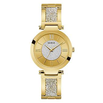 Guess Watches Ladies Stainless Steel Glitz Analog Watch W1288L2