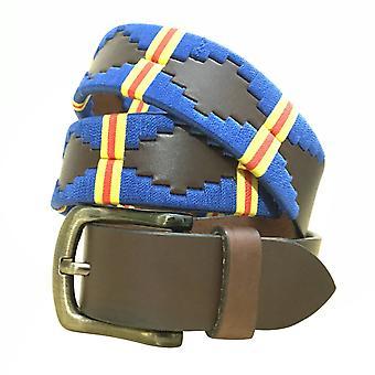 Carlos diaz unisex brun læder polo bælte cdupb112