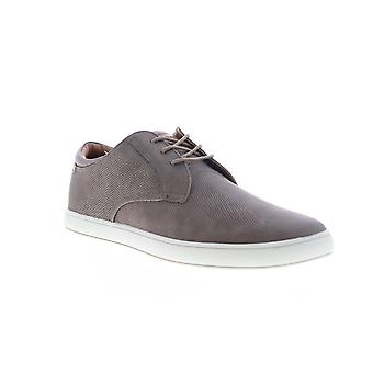 Robert Wayne Aaron  Mens Gray Leather Lace Up Low Top Sneakers Shoes