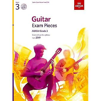 Guitar Exam Pieces from 2019 - ABRSM Grade 3 - with CD - Selected from