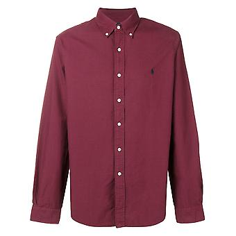 Ralph Lauren Ezcr012005 Men's Burgundy Cotton Shirt