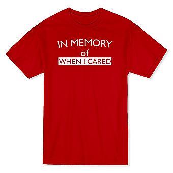 """""""In Erinnerung an wenn ich gepflegt"""" lustiges Zitat Herren T-shirt"""
