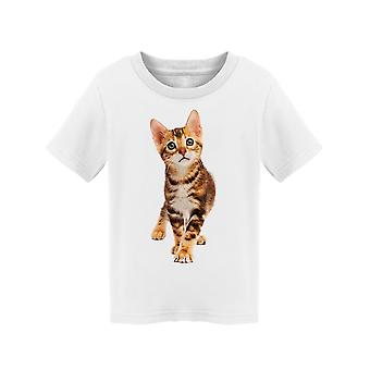 Small Bengal Kitty Looking Tee Toddler's -Image by Shutterstock