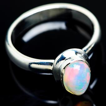 Natural Ethiopian Opal Ring Size 8.25 (925 Sterling Silver)  - Handmade Boho Vintage Jewelry RING7857
