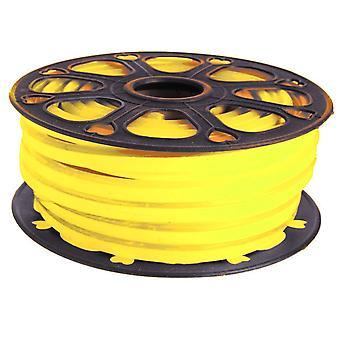 Jandei Tira LED NEON flexible 25m, Color luz amarillo 12VDC 8 * 16mm, corte 1cm, 12W 100 led/m SMD2835, decoración, formas, cartel led