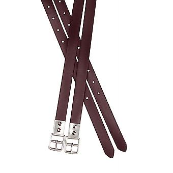 Collegiate Synthetic Stirrup Straps - Brown