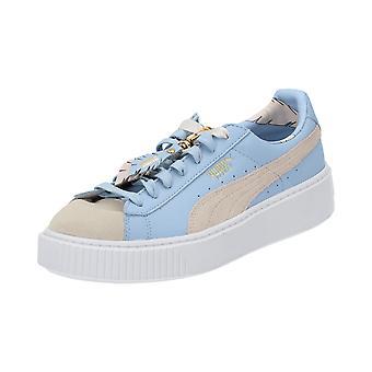 Puma Basket platform Coachella 366364 01 women's sneaker bright blue beige new original box
