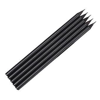 5x Pencils in All Black Design