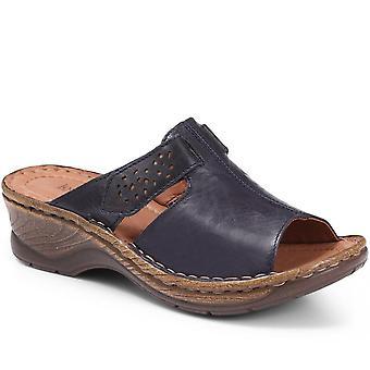 Josef Seibel Womens Leather Mule Sandal