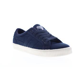 Gola Tennis Mark Cox Wash  Mens Blue Canvas Lifestyle Sneakers Shoes
