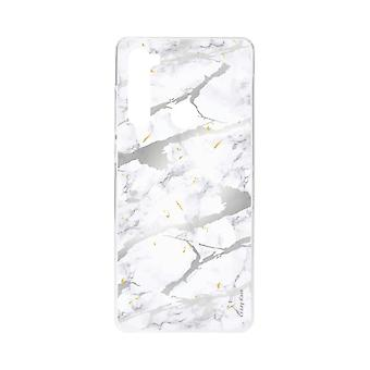 Hull For Xiaomi Redmi Note 8 Soft Grey Marble Effect