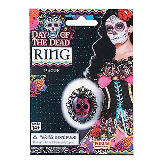 Bristol Novelty Unisex Adults Day Of The Dead Ring