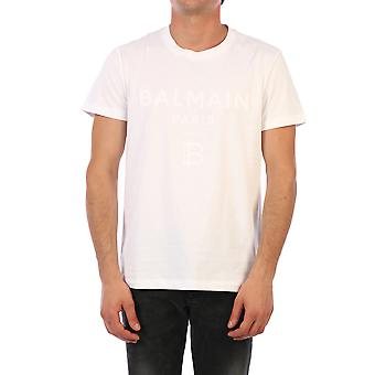 Balmain 01601i3590fa Män's White Cotton T-shirt