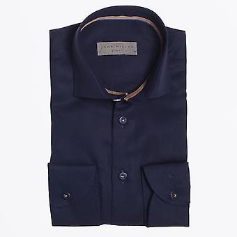 John Miller  - Button Detail Shirt - Navy