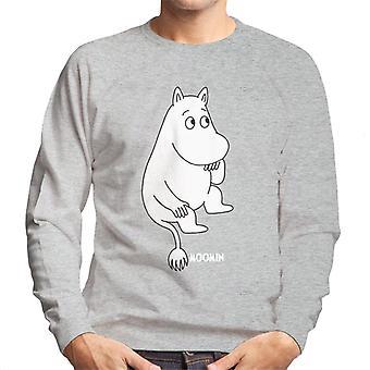 Moomins Moomintroll Sitting Men's Sweatshirt