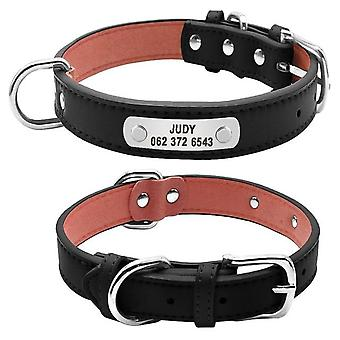 Large Personalized Pet Id Collar For Small Medium Large Dogs & Cats