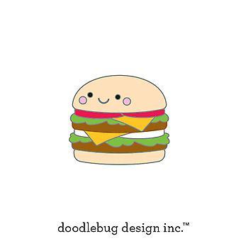 Doodlebug Design Cheeseburger Kolekcjonerski Pin