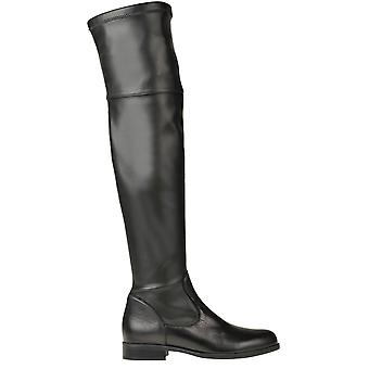 Anna Baiguera Ezgl238020 Dames's Black Leather Boots