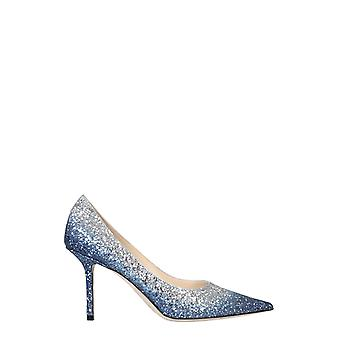 Jimmy Choo Love85vkgdenimsilver Women's Light Blue Glitter Pumps