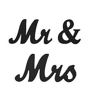 Mr&Mrs Sign Rustic Wood Home Decorations Black