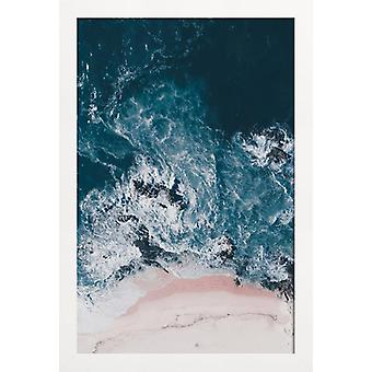 JUNIQE Print - I Love The Sea - Oceans, Seas and Lakes Poster in Turquoise