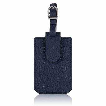 Midnight Richmond Luxury Leather Luggage Tag