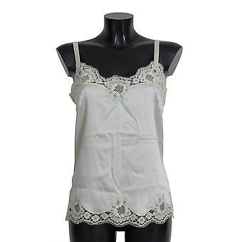 Dolce & Gabbana Zelená Hodvábna Čipka Šaty Spodná Bielizeň Chemisole BIK261-M