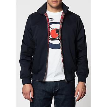 Harrington Navy Cotton Jacket