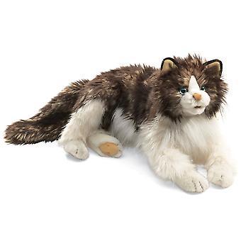 Hand Puppet - Folkmanis - Cat Ragdoll Animals Soft Doll Plush 2558