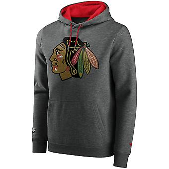 Ikoniska Grundläggande Fleece Hoody - NHL Chicago Blackhawks