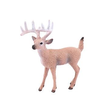 Mini Christmas Deer Miniatures Figurines Toys- Simulated Animal Model Fairy Garden / Home Decoration Doll