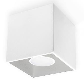 1 Light Surface Mounted Downlight White, GU10