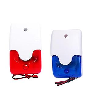 Mini Strobe Siren Indicator Light And Sound Alarm Lamp Flashing Light Wired Red