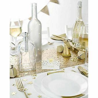 Gouden fles lichten voor lege flessen kerstfeest 1M tafel decoratie