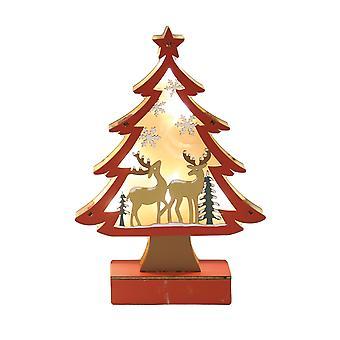 Straits LED Red Xmas Tree, Reindeer