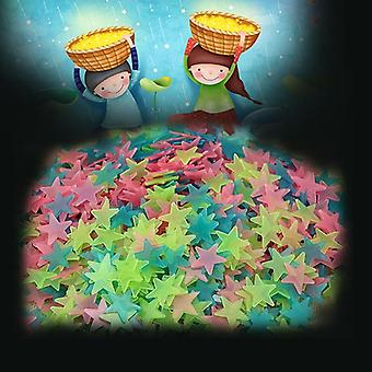 Stars Glow In The Dark Fluorescent Toys Colorful Stars 3cm Room Decoration