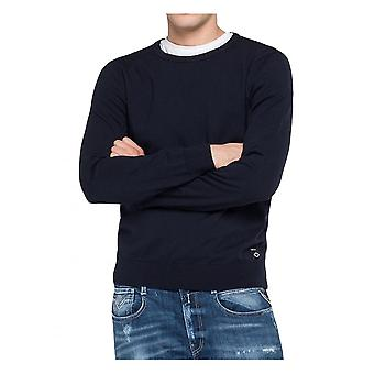 Replay Jeans Replay Hyperflex Merino Knitwear Navy