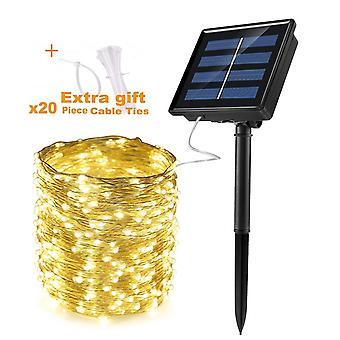 Zasilany energią słoneczną Outdoor Solar Fairy String Lights For Home Patio Garden Gate,