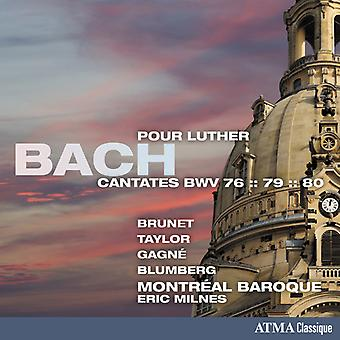 Bach, J.S. / Brunet / Blumberg - Kantater Pour Luther kantater [CD] USA import