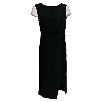 ليزا رينا جمع اللباس ميدي الجانب Ruched مرة أخرى قطع الأسود A308775