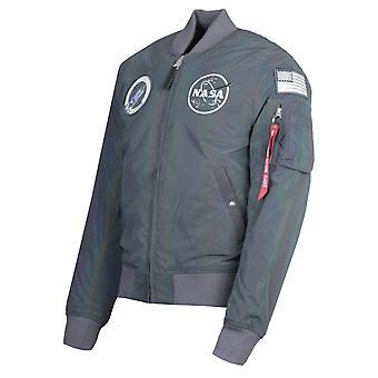 Alpha Industries MA-1 NASA Rainbow Reflective Flight Jacket