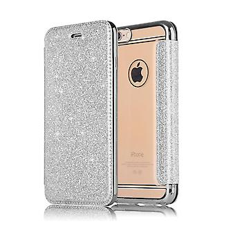 Leather Case for Samsung Galaxy S8+/ S8 Plus Sliver honghaowei-497