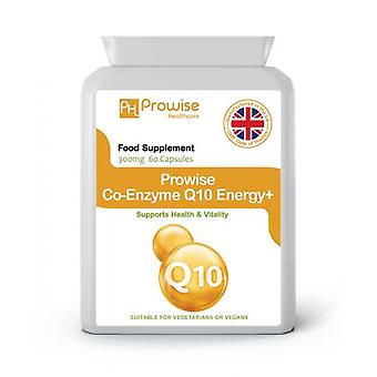 Co-Enzyme Q10 300mg 60 Energy+ | Suitable for Vegetarians & Vegans | Made in UK