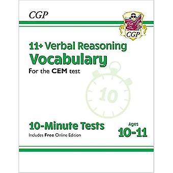 New 11+ CEM 10-Minute Tests: Verbal Reasoning Vocabulary - Ages 10-11 (with Online Edition)