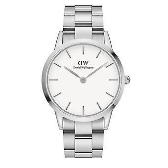Daniel Wellington DW00100341 Iconic Silver Tone Wristwatch