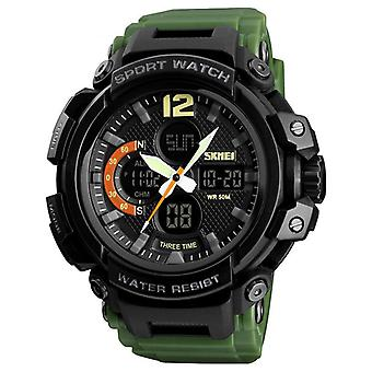 SKMEI 1343 Digital Watch Dual Display Chronograph 3 Time Waterproof Alarm